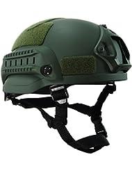 """OneTigris MICH 2002Acción versión casco táctico Casco ABS para Airsoft Paintball, color OD verde, tamaño Head circumference: 22""""- 24"""" Weight:660g"""