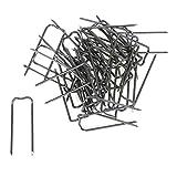 Bütic Pinces agrafes en différentes tailles, Métal, Lot de 250, 10/40 mm