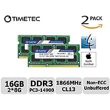 Timetec Hynix IC Apple 16GB (2x8GB) DDR3 PC3-14900 1866MHz para iMac 17,1 con pantalla Retina 5K (27 pulgadas hasta finales de 2015) A1419 (EMC 2834) MK462LL / A, MK472LL / A, MK482LL / A (2x8GB))