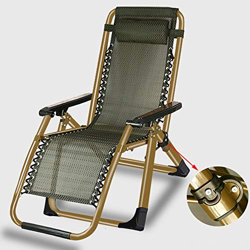 LCTCDD Zero Gravity Lounge Chair Patio Plegable, reclinable, Ajustable, reclinable para Patio...