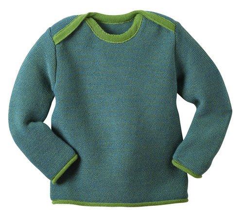 Disana 31309XX - Melange-Pullover Wolle grün, Size / Größe:50/56 (0-3 Monate) -