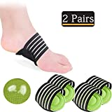 2 Pairs Compression Fasciitis Cushioned Arch Support Sleeves, Foot Relief Cushions for Plantar