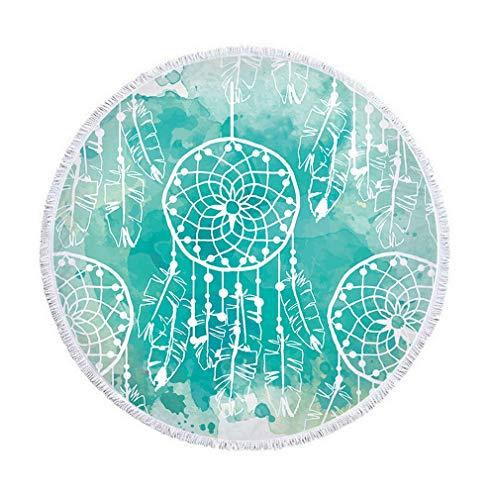 Nunubee Toallas de Playa Indian Bohemio Elefante Hippie Mandala or Bedspread Estampado Floral Decoración Naturaleza Hogar Grande Picnic Mantel psicodélico, Red1 150 * 150cm/59 * 59inch
