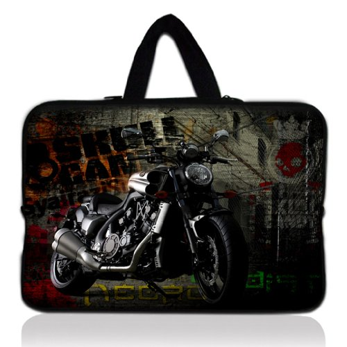 Preisvergleich Produktbild Laptoptasche mit Motorradmotiv-Motiv für 33 cm (13 Zoll) / 33,7 cm (13,3 Zoll), für Apple MacBook Pro 13 / Air 13, Samsung 900X3 530 535U3, Dell XPS 13 / Vostro 3360 / Inspiron 13, Asus UX32 / UX31 / U36 / X 35, Sony SD4 13, Acer 13, ThinkPad X1 L330 E330