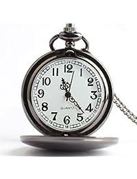 lekima reloj de bolsillo Gousset collar colgante pulido Simple Cuarzo Movimiento aleación Fantasía hombre mujer regalo