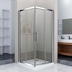 80x80x185cm eckeinstieg duschkabine duscht r schiebet r eckdusche duschabtrennung ns10 amazon. Black Bedroom Furniture Sets. Home Design Ideas