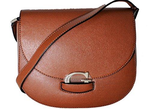 GUESS, Damen Handtaschen, Umhängetaschen, Crossover-Bags, Crossbody, Cognac, 26 x 21 x 7 cm (B x H x T) (X-stil-crossover)