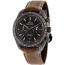 Omega Speedmaster Moonwatch coaxial negro Dial Cronógrafo Automático Mens Reloj 31192445101006