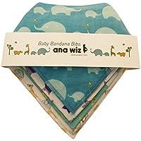Premium bavaglini bandana, 100% cotone biologico, Set di 5Design unico