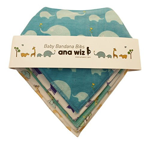 Premium Baby Bandana Lätzchen, 100% Bio Baumwolle, Set von 5einzigartige Designs (Jungen Set) (Baby-kleidung Bio-baumwolle)