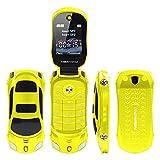 Altsommer Senioren Handy,Auto Klapphandy mit Kamera,Dual-SIM,Großtasten Mobiltelefon, MP3,FM Radio,6Sprachen, LED Lampe,Einfaches Handy,Weiß,Gelb (Gelb)
