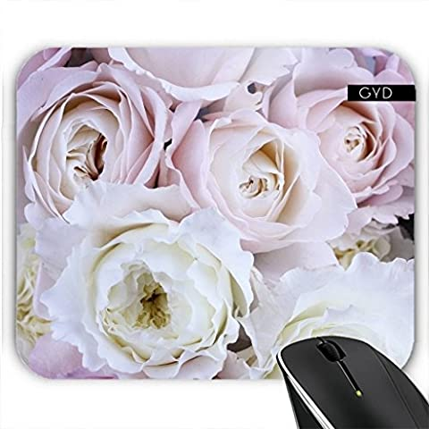 Mousepad - Pink White Romantic Roses by