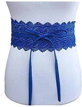Juleya cinturones elásticos de encaje para mujeres disfraces jeans vestido de novia pretina