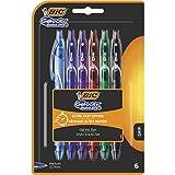 BIC Gel-ocity Quick Dry - Blíster de 6 unidades, bolígrafos de Gel, colores surtidos