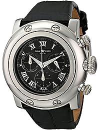 Glam Rock Miami Unisex-Armbanduhr 46mm Armband Leder Schwarz Gehäuse Edelstahl Batterie Analog GR11124