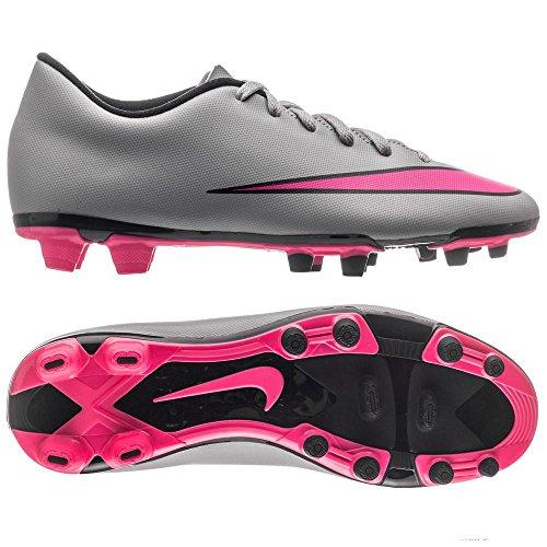 Nike Mercurial Vortex II FG Scarpe da Calcio Uomo, Gris/Rosa/Negro (Wolf Grey/Hyper Pink-Black-Blk) 42 EU