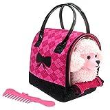 ColorBaby - Sparkle Girlz Perrito Caniche Rosa & transportín rosa (85151)