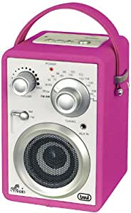 Trevi MRA784USB Portable Radio with Built in MP3 Player (Fuschia Pink)