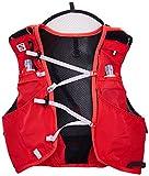 Salomon, Sehr leichte Rucksackweste für Bergläufe, Hiking oder Radfahren, 5 L, 36 x 20 cm, 310 g, ADV SKIN 5 SET, Gr. M/L, Rot (Matador/Black), L39267600