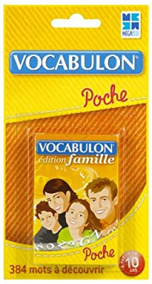 Megableu - 678055 - Jeu de voyage - Pocket Vocabulon Famille