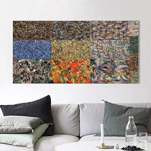 mmzki Abstraktes Malerei-Wandkunst-Bild für Wohnzimmer-blauen Hintergrund-Hauptdekor fertigen Malerei besonders an50X100CM