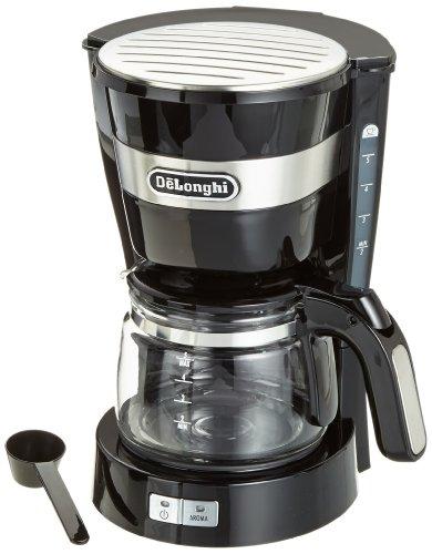 DeLonghi ICM 14011BK-drip Maker freestanding Ground Semi-auto Coffee Black Plastic Stainless Steel 650 W