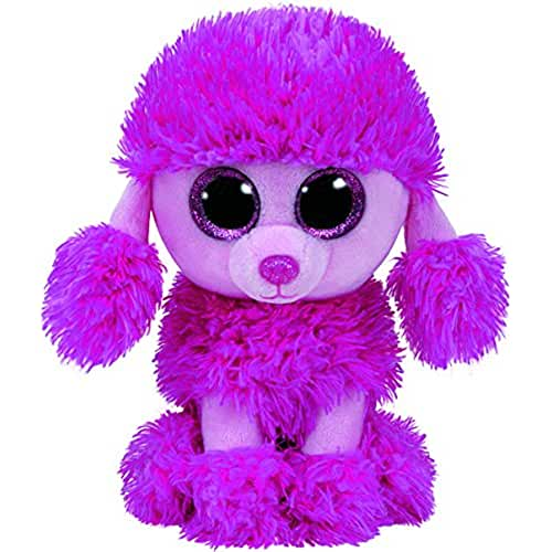 peluches TY - Beanie Boos Patsy, caniche, 15 cm, color rosa (United Labels Ibérica 37203TY)