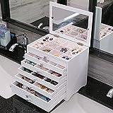 myun Hochwertige Holz Schmuck Aufbewahrungsbox, Schmuckschatulle, Schublade Schmuckschatulle, Europäischen Schmuck Ring Ohrringe Schmuck Aufbewahrungsbox,Mirror