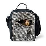 chaqlin Cute Animal Lunch Bag Isolierte Kühler Schule Lunch Box Farbe: Grau maus