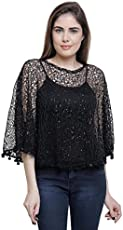 Matelco party wear cape poncho - free size