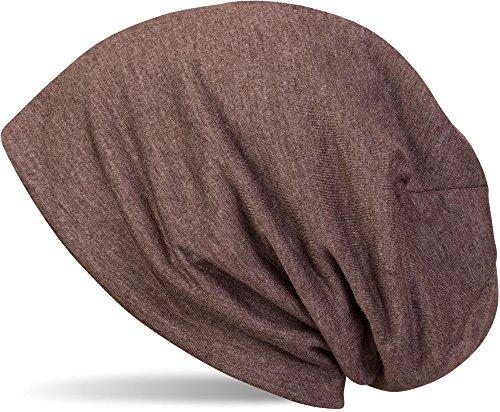 che Slouch Beanie Mütze, leicht, Unisex 04024018, Farbe:Dunkelbraun meliert ()