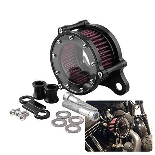 10JQK Kit Sistema di Filtro dell'Aria di Aspirazione CNC per Filtro Aria Moto Interno per Harley Sportster XL 883 XL1200 1992 1993-2016