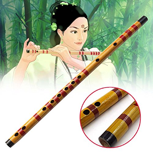 Forfar 1 Stück 47cm Bambusflöte Holzbläser Musikinstrument Anfänger Lernende Schüler Praxistraining Traditioneller handgemachter Fachmann