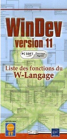 WinDev version 11 : Liste des fonctions du W-Langage