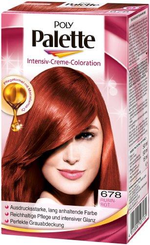 Poly Palette Intensiv-Creme-Coloration 678 Rubinrot Stufe 3