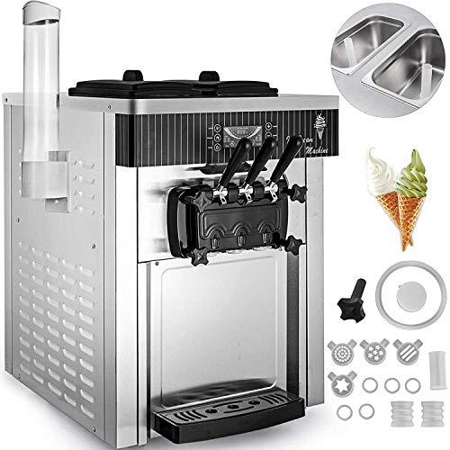 Küche Hause Praktische 2200 Watt Softeis Maschine Kommerziellen Arbeitsplatte Softeis Maschine Eismaschine für Restaurants Bars Cafés Bäckereien (Weiß)