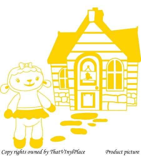 Assemblea e lampada a parete Sticker 60cm x 60cm colore giallo, Disney, medico, Camera da letto, stanza dei bambini Adesivi, vinile auto, Windows e adesivo parete, Windows Art, decalcomanie, Ornamento vinile ThatVinylPlace
