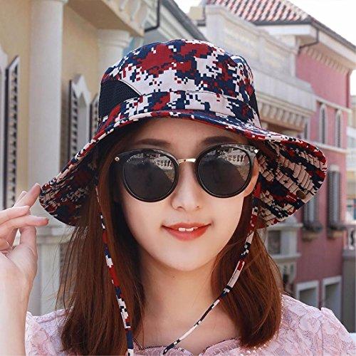 XINQING-mz Hut, männliche und weibliche Tarnung Sonnenschirm - Hut, der anglerhut, Outdoor - große Sonne der anglerhut, im frühling und Sommer zu Falten,des