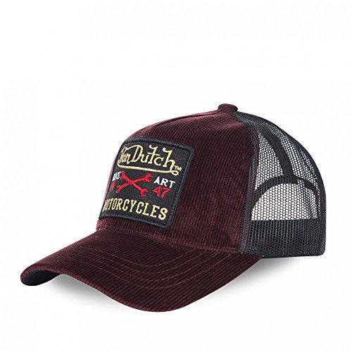 taille-unique-casquettes-von-dutch-mark-rouge