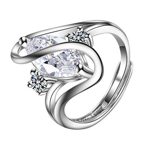 aiuin Retro Full Diamond Ring weiblich Modelle Kristall verstellbar Offene Ringe Hochzeit Schmuck für Frauen X 1
