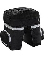 Hama 00178117 bolsa para bicicletas y cesta - bolsas para bicicletas y cestas (Negro, Poliéster, Bolsa, Parte trasera)