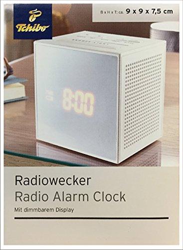 TCM Tchibo Radiowecker, weiß Mit dimmbarem Display Große Snooze-Taste PLL-Tuner