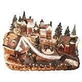 Große Weihnachtsstadt beleuchtet weihnachtliche Dorfszene Fiberoptik Winter