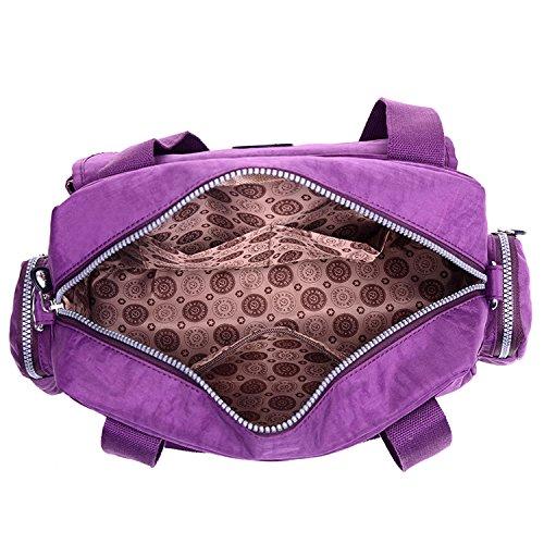 MeCooler Umhängetasche Leichter Kuriertasche Lässige Handtasche Damen Schultertasche Wasserdicht Taschen Messenger Bag Mode Reisetasche Sporttasche für Mädchen Rot 2