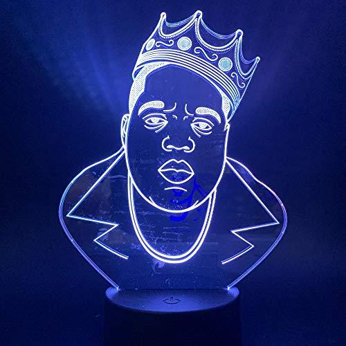 Nachtlicht Bunte Touch-Verlaufsfarbe Mit Einer Krone Aus Fetten Männlichen Led-Tischlampe Dekorative Lichter Touch-Schalter ()