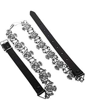 I Luv LTD Fancy Sporran Chain Belt Thistle Jet Black