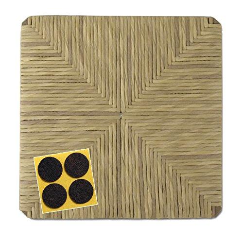 ArredaSì 'Lot de 2 sièges Imitation Paille 37 x 37 cm (Mod. 901 SM maïs) [Made in Italy] + Patins en Hommage