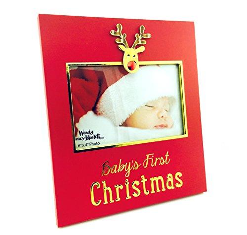 Cornice portafoto Bambino Primo Natale Renna Boxed