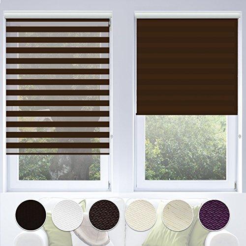 Doppelrollo VarioLight mit Kassette | Duo-Rollo für Fenster flexibel einstellbar – blickdicht oder transparent | Rollo Größe & Farbe wählbar