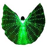 Yogogo 2 Accessoires de Coiffure Multi Set Outils de Coiffure Kit de Coiffure pour Femmes et Filles,LED Danse du Ventre Angel Isis Wings Ailes de Papillon avec bâtons télescopiques